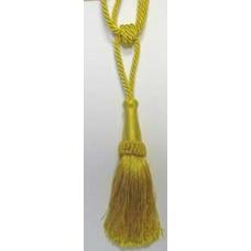 2054  413 - Yellow shiny polyester tieback small 5 pairs