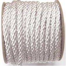 3850 401 - White polyester Crepe Cord on 25m rolls