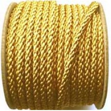 3850 407 - Ant Gold polyester Crepe Cord on 25m rolls