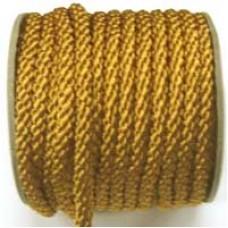 3850 410 - Dark Gold polyester Crepe Cord on 25m rolls