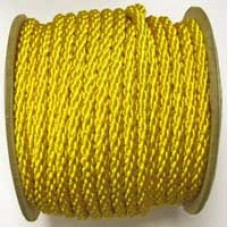 3850 413 - Yellow polyester Crepe Cord on 25m rolls