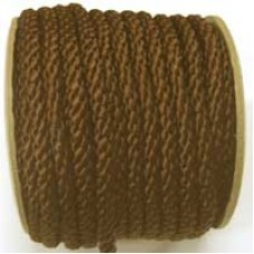 3850 417 - Chocolate Brown polyester Crepe Cord on 25m rolls