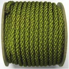 3850 432 - Moss green polyester Crepe Cord on 25m rolls