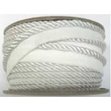 7020 401 - White Polyester piping on 20m rolls