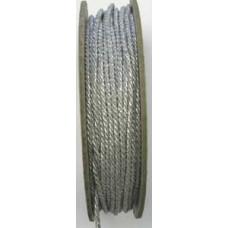 70494 2 - 4mm Narrow silver metallic cord 25m