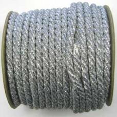 70496 2 - 9mm Thick silver metallic cord 25m