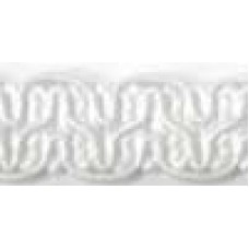 8519 401 - White Polyester Braid on 25m cards