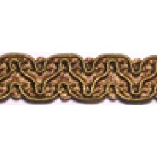 8519 407 - Antique Gold Polyester Braid on 25m cards