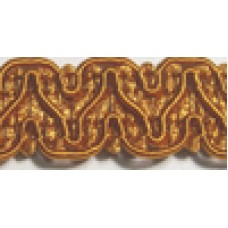 8519 410 - Deep Gold Polyester Braid on 25m cards