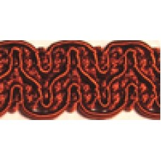 8519 415 - Rust Polyester Braid on 25m cards