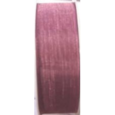 9232 10 563 - Sheer organza ribbon  10mm on 25m rolls