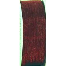 9232 6 587 - Sheer organza ribbon  6mm on 25m rolls