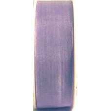 9232 6 632 - Sheer organza ribbon  6mm on 25m rolls