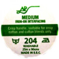AP204 101 - Iron On Interfacing 90cm 25m roll White