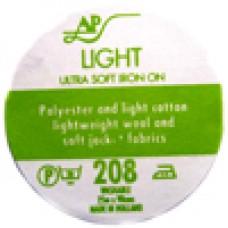 AP208 - Ultrasoft Light Iron On Interfacing 90cm 25m roll White