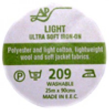 AP209 - Ultrasoft Light Iron On Interfacing 90cm 25m roll Charcoal