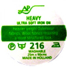 AP216 - Ultrasoft Heavy Iron On Interfacing 90cm 25m roll White