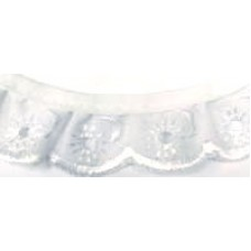 25mm Frilled Broderie Anglais with cotton top 25m
