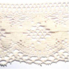 D1065 106 - 125mm Cotton lace on 25m cards natural