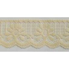FL200 106 - 32mm Flat lace Cream 33m