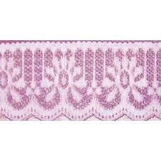 FL200 133 - 32mm Flat lace Pink 33m