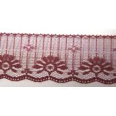 FL201 155 - 50mm Flat lace Wine 33m