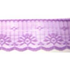 FL201 157 - 50mm Flat lace Lilac 33m