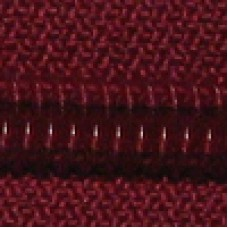 wine - 25cm Open end zips in packs of 5