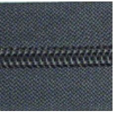 grey - 25cm Open end zips in packs of 5