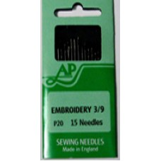 P20 - Hand Needles Embroidery 3/9 in packs of 10