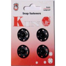 10B - Snap fasteners size 10 black packs of 20 cards