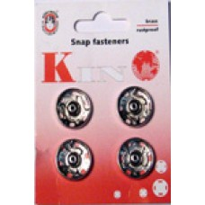10N - Snap fasteners size 10 silver packs of 20 cards