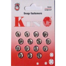 1N - Snap fasteners size 1 silver packs of 20 cards